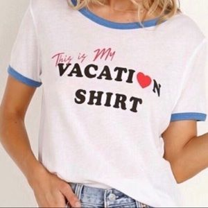 Wildfox | Women's NWT Vacation Johnny Ringer Tee M